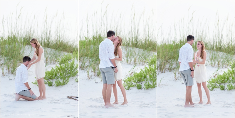 beach proposal surprise pensacola fort pickens love engagement_0006
