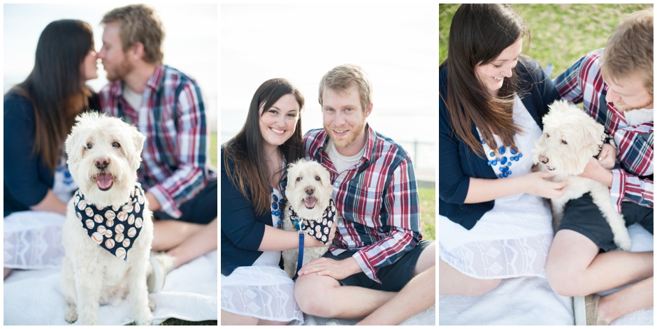 engagement session downtown pensacola florida puppy furbaby dog pet family baseball red white blue water city reflections macro_0001