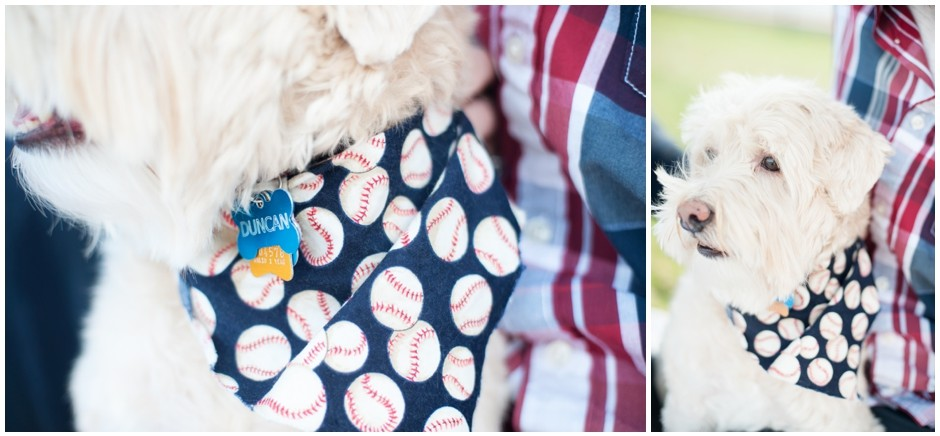 engagement session downtown pensacola florida puppy furbaby dog pet family baseball red white blue water city reflections macro_0003