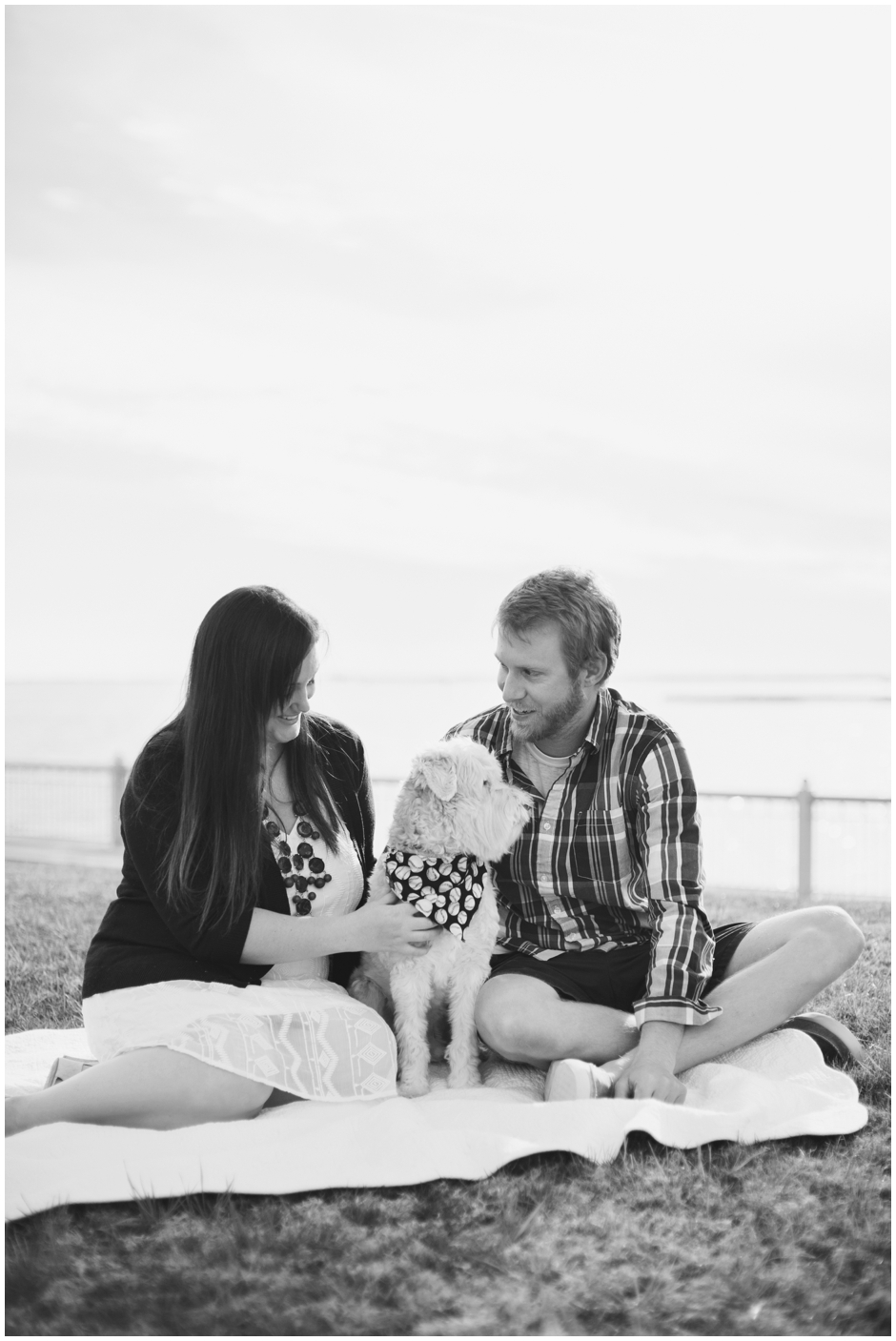 engagement session downtown pensacola florida puppy furbaby dog pet family baseball red white blue water city reflections macro_0004