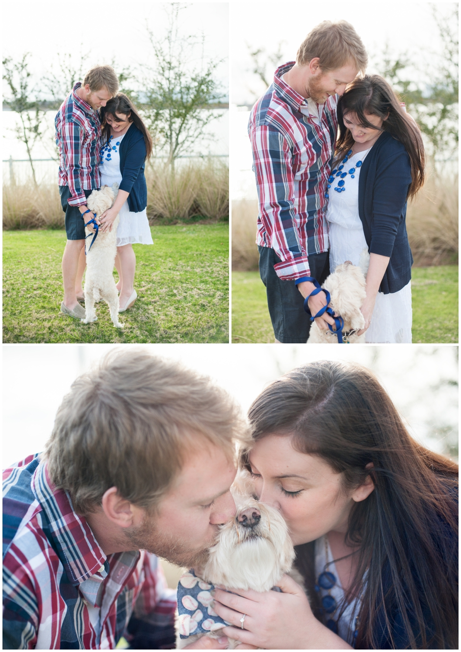 engagement session downtown pensacola florida puppy furbaby dog pet family baseball red white blue water city reflections macro_0007