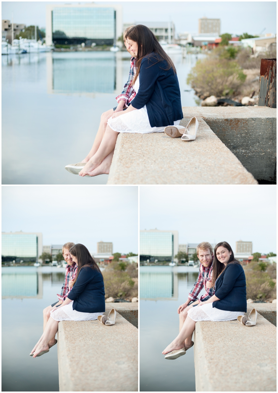 engagement session downtown pensacola florida puppy furbaby dog pet family baseball red white blue water city reflections macro_0013
