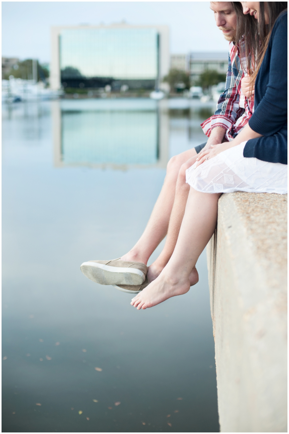 engagement session downtown pensacola florida puppy furbaby dog pet family baseball red white blue water city reflections macro_0014