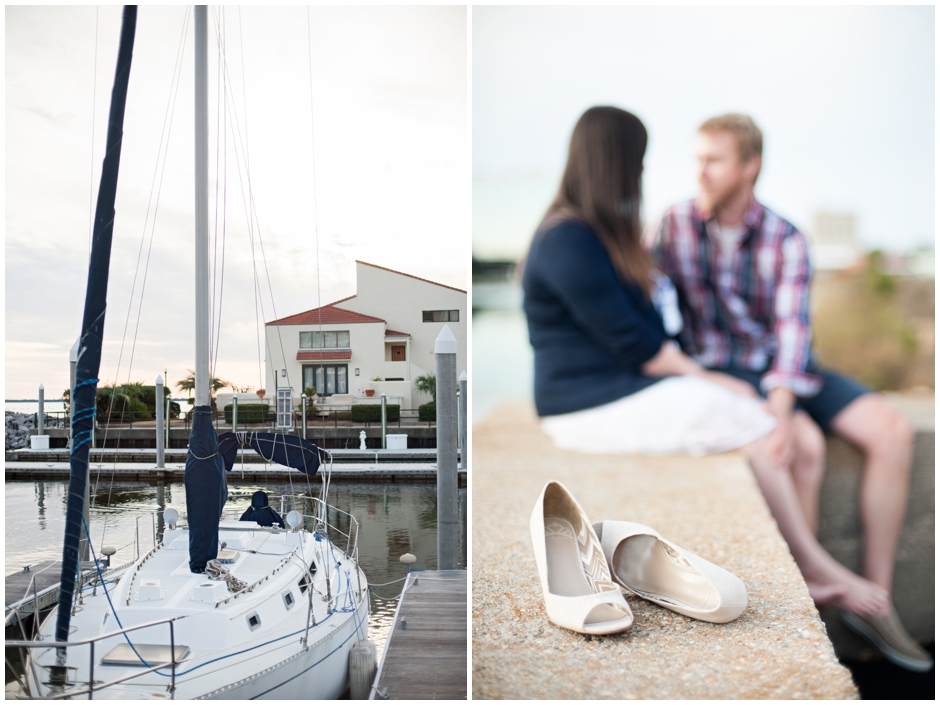 engagement session downtown pensacola florida puppy furbaby dog pet family baseball red white blue water city reflections macro_0016