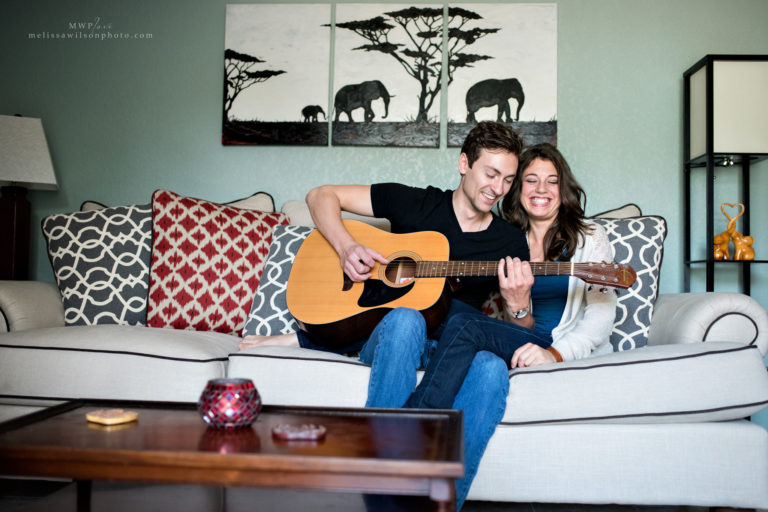 guitar lifestyle engagement session