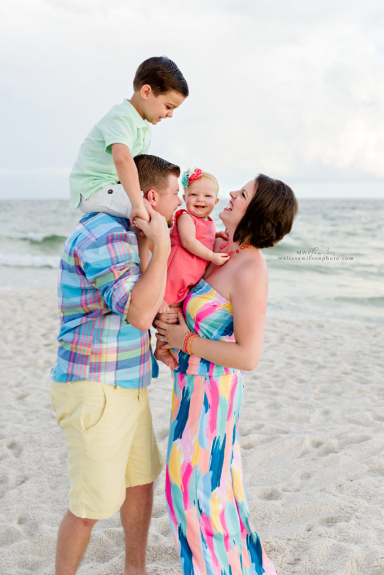 Colorful family session Orange Beach Alabama