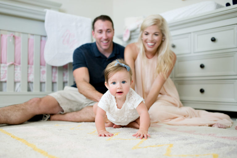 Lifestyle Family Session Baby Girl Pensacola Florida