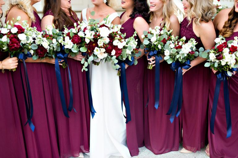bouquets alabama maroon bridesmaids