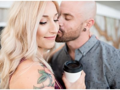 Caitlin + Aaron | Coffee Shop Engagement | Pensacola Photographer