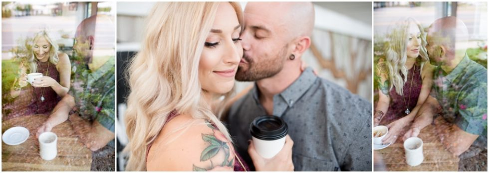 Caitlin + Aaron | Coffee Shop Engagement