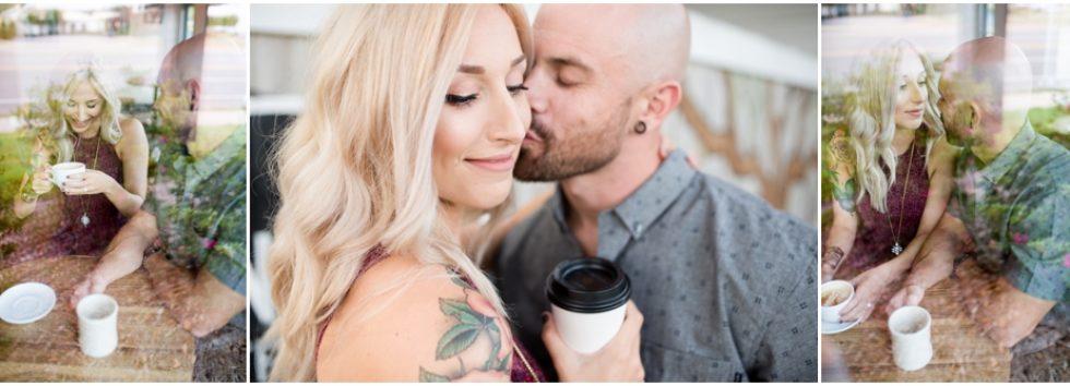 Caitlin + Aaron   Coffee Shop Engagement