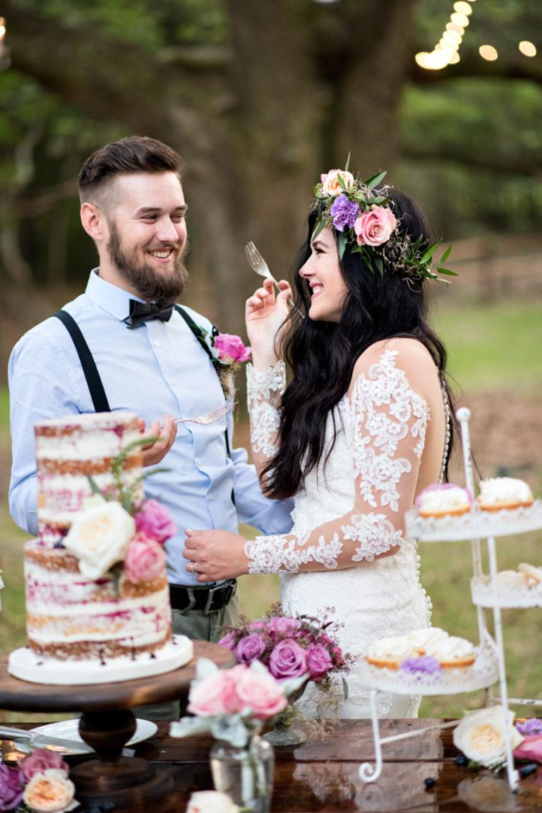 Live Oak Plantation Wedding Cake Cutting Pensacola Florida