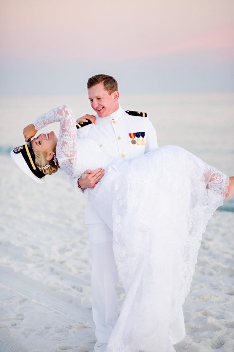 Military Wedding Pensacola Beach Florida Navy