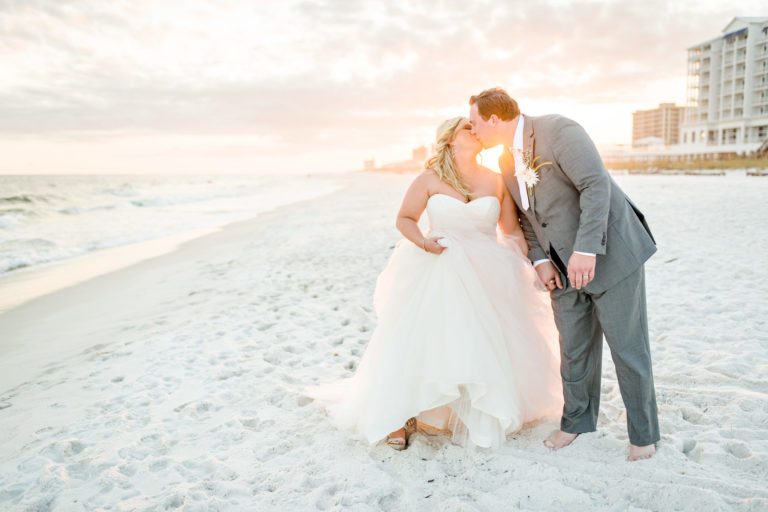 Sunset Wedding Pensacola Beach Florida