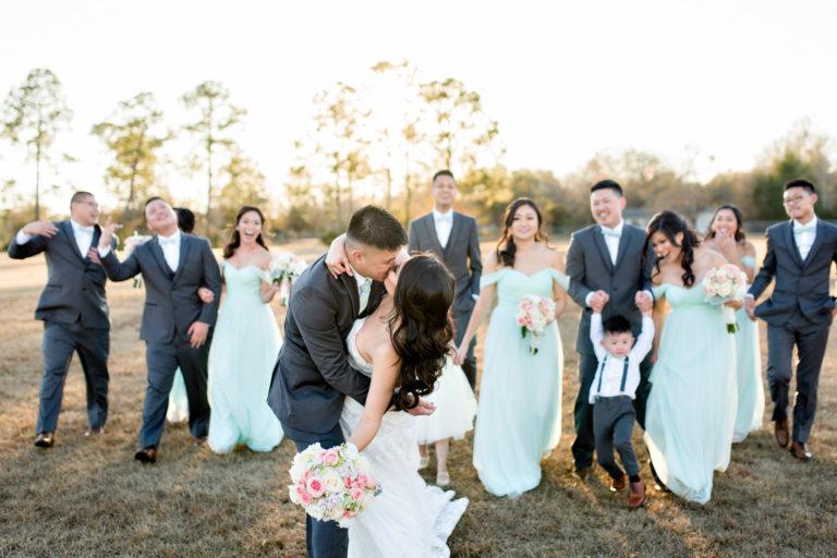 Bridal Party Hadji Shrine Field Vietnamese Wedding Pensacola Florida
