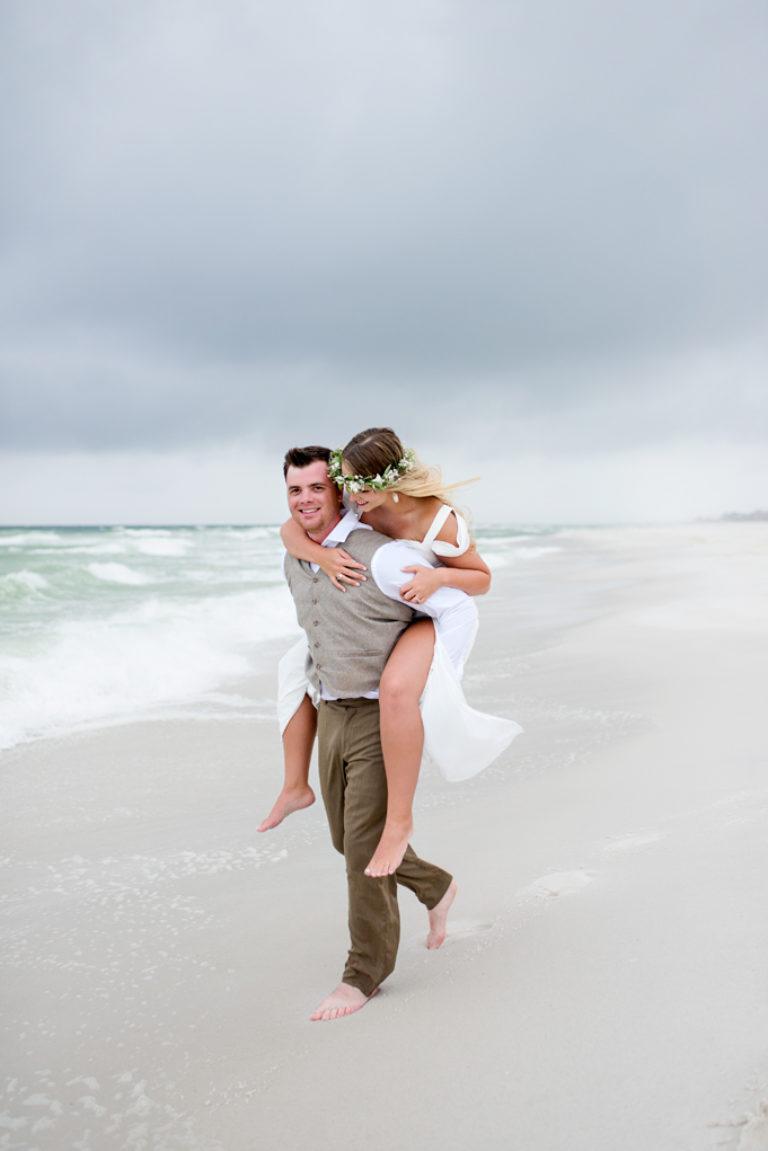Navarre Beach Wedding Stormy Weather Vow Renewal