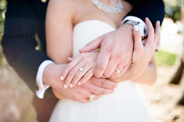 rings bride and groom military marine wedding