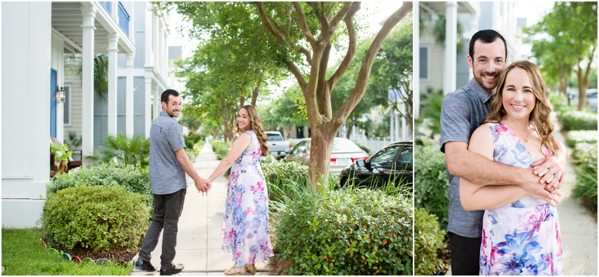 Downtown Pensacola Florida historic field engagement session