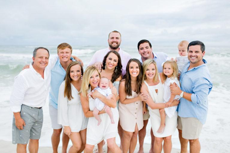 large family beach destin 30a