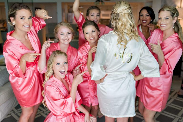 Braea Zac getting ready girls robes wifey