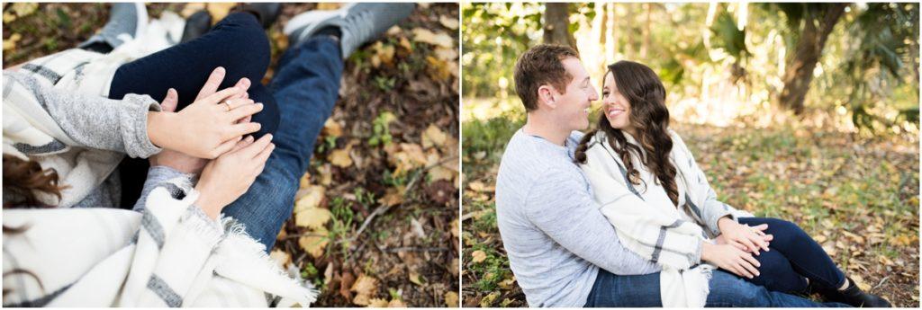 woodsy engagement session navarre pensacola alabama florida photographer
