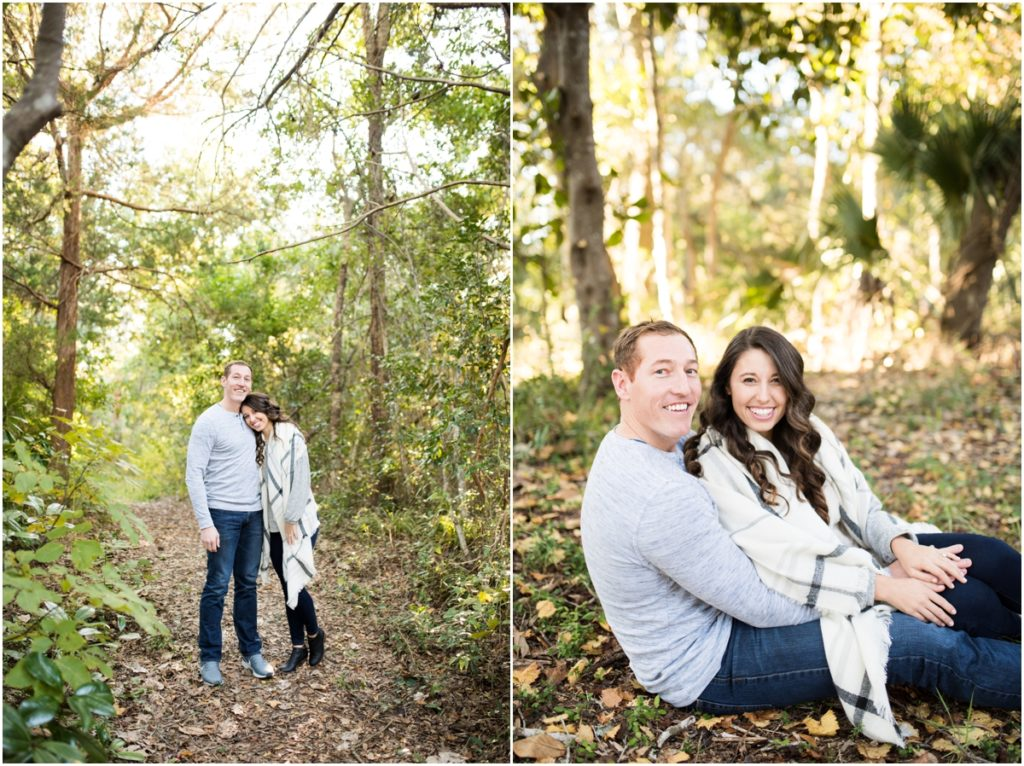 woodsy engagement session navarre pensacola alabama florida photographer