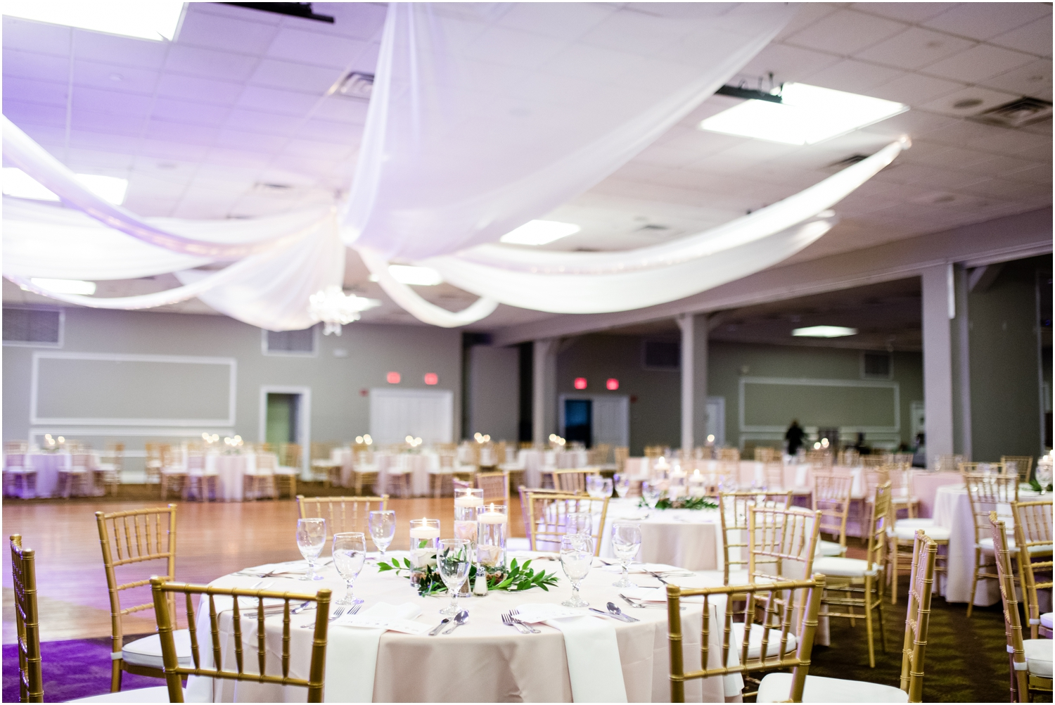 Downtown Pensacola Florida Live Oak Plantation New World Landing Wedding Reception wedding walls