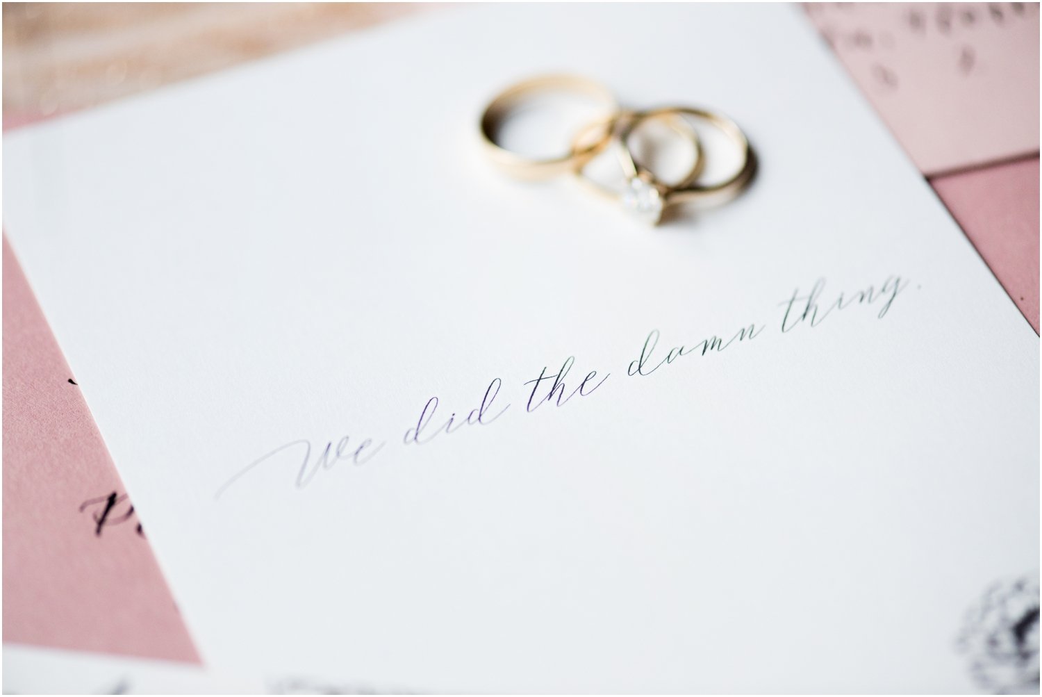 Coldwater Gardens woodsy wedding milton florida photographer details invitations suite rings