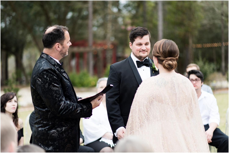 Coldwater Gardens woodsy wedding milton florida photographer bride wedding ceremony