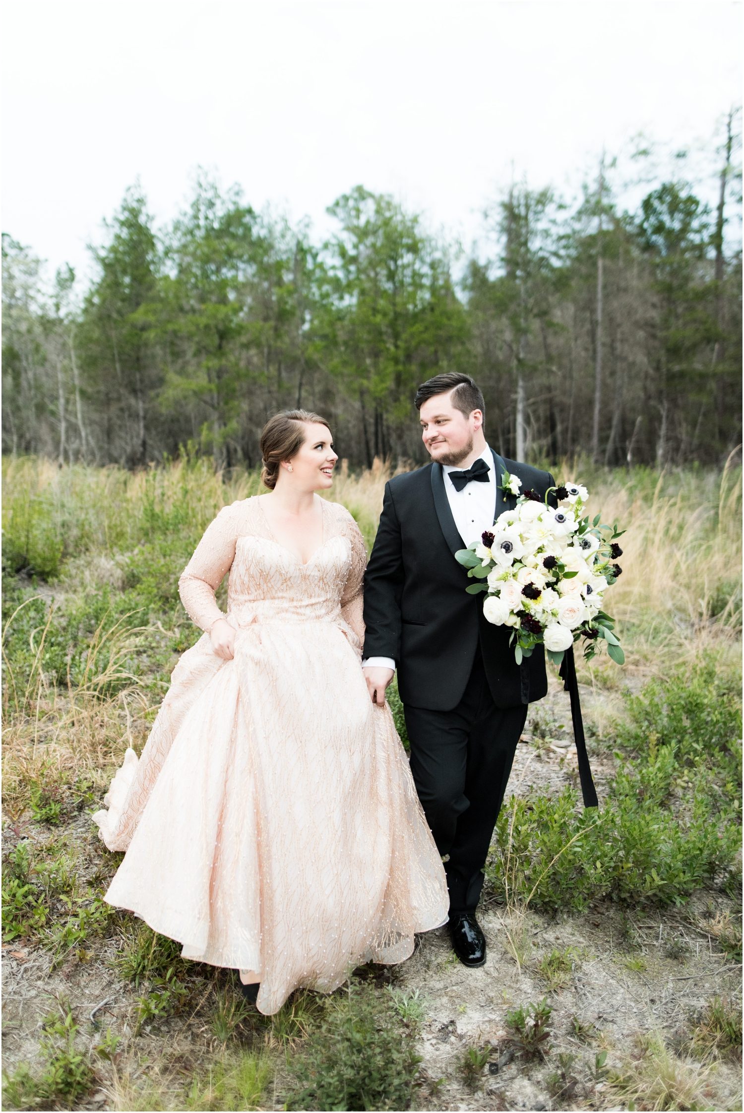 Coldwater Gardens woodsy wedding milton florida photographer bride groom field