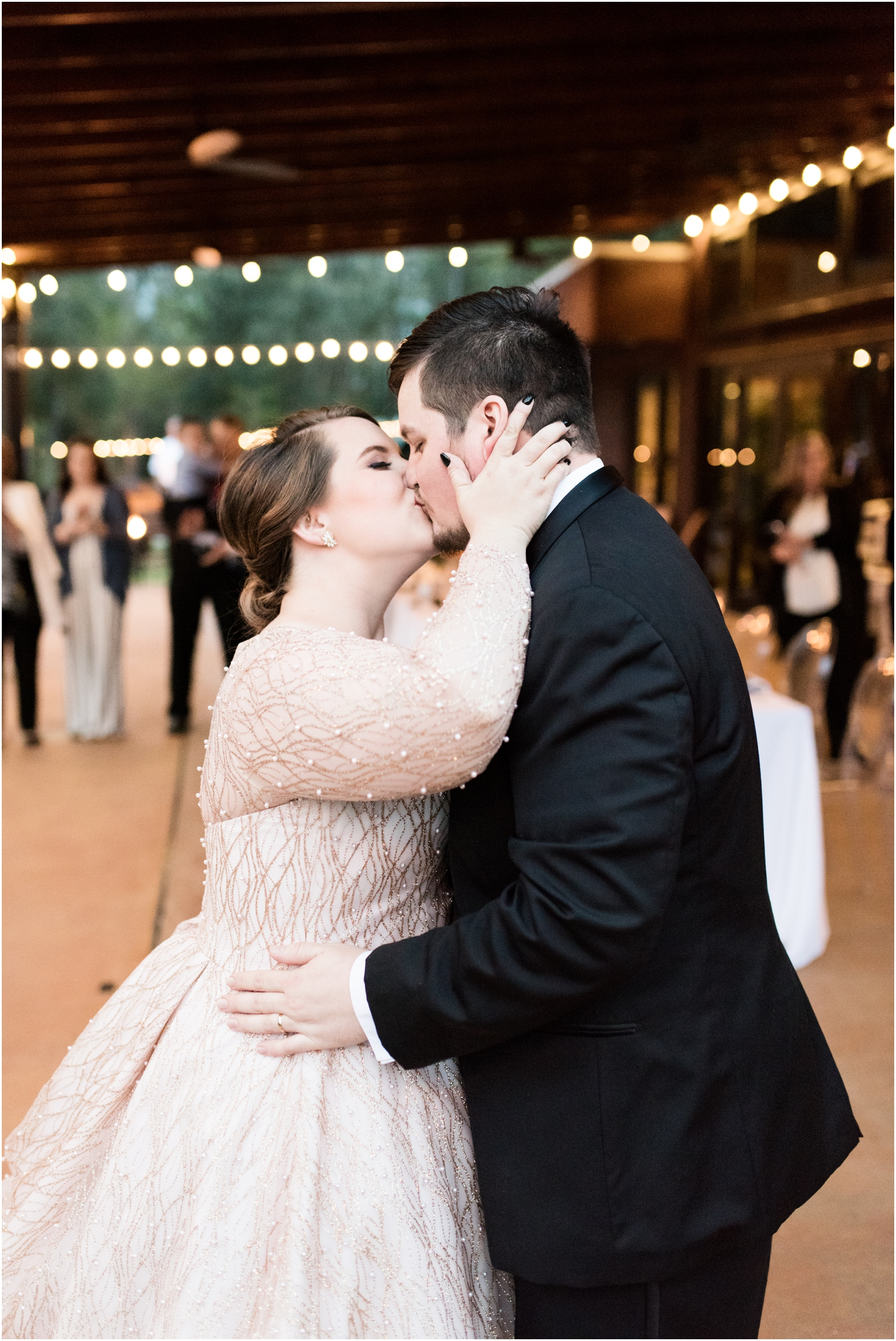 Coldwater Gardens woodsy wedding milton florida photographer bride groom reception first dance