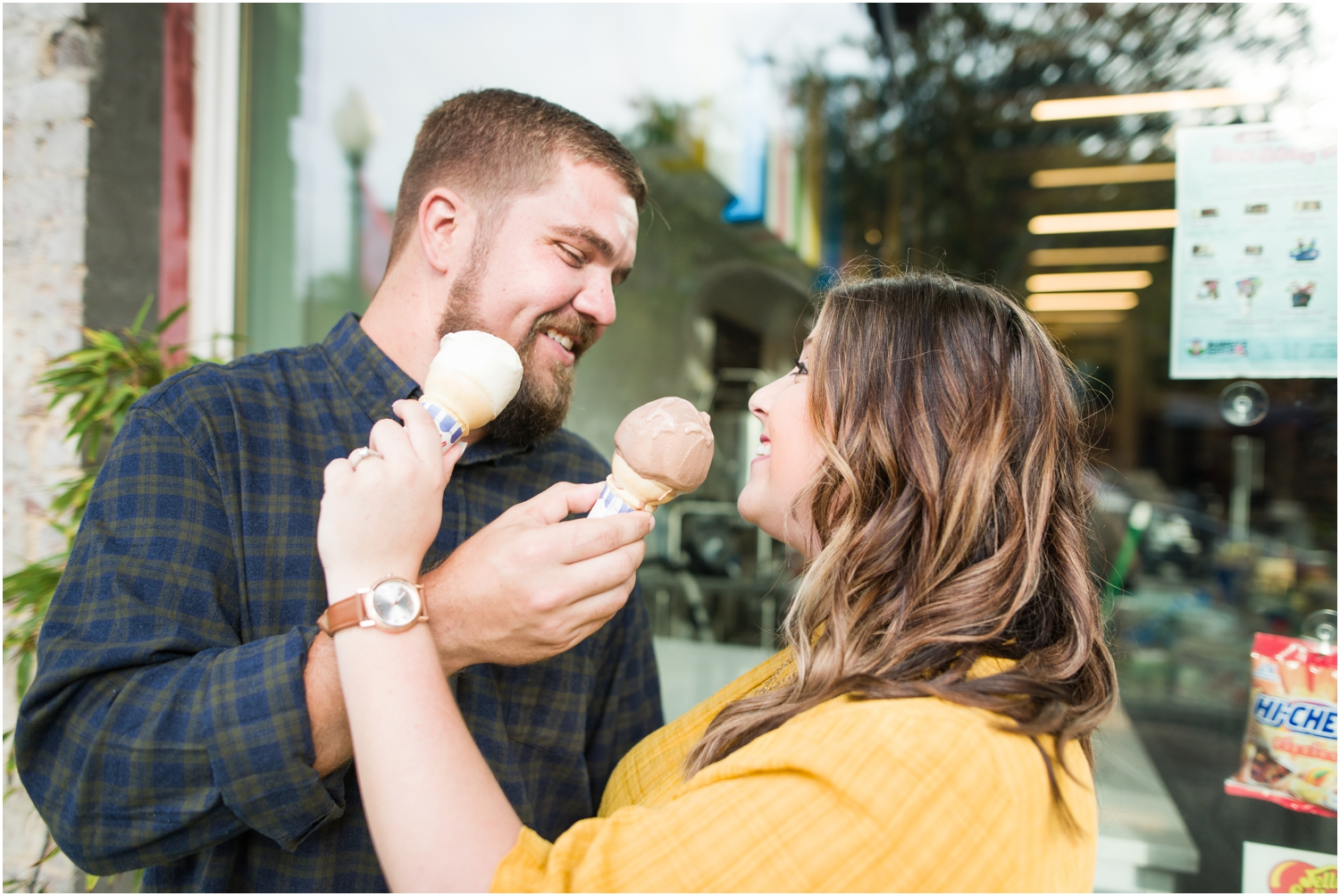 What's a little ice cream in your face between soulmates?