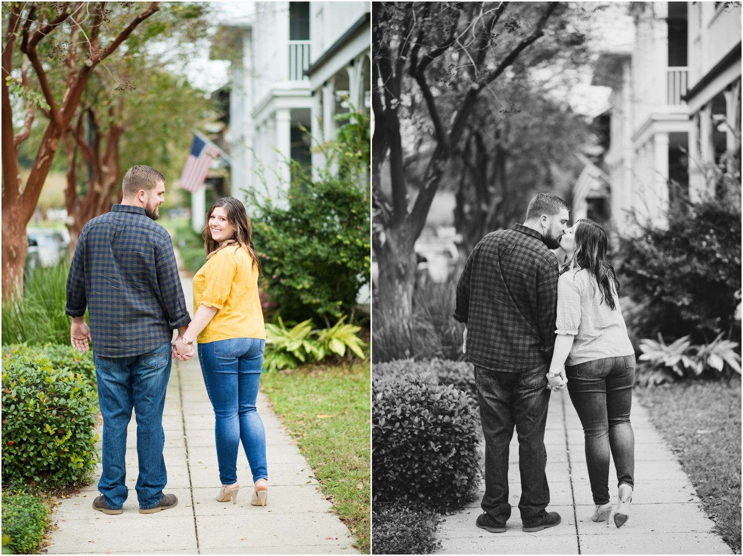 Downtown Pensacola Bubbas Sweet Spot Ice Cream Engagement Session Historic District