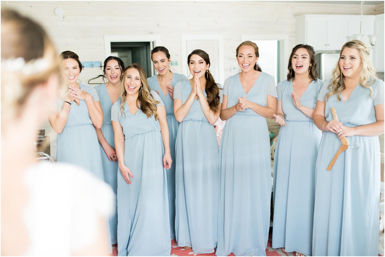 Gulf Shores Orange Beach Alabama Family Home on the Water Wedding Photographer getting ready bridesmaids bride