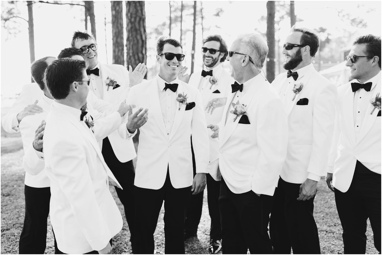 Gulf Shores Orange Beach Alabama Family Home on the Water Wedding Photographer groomsmen groom