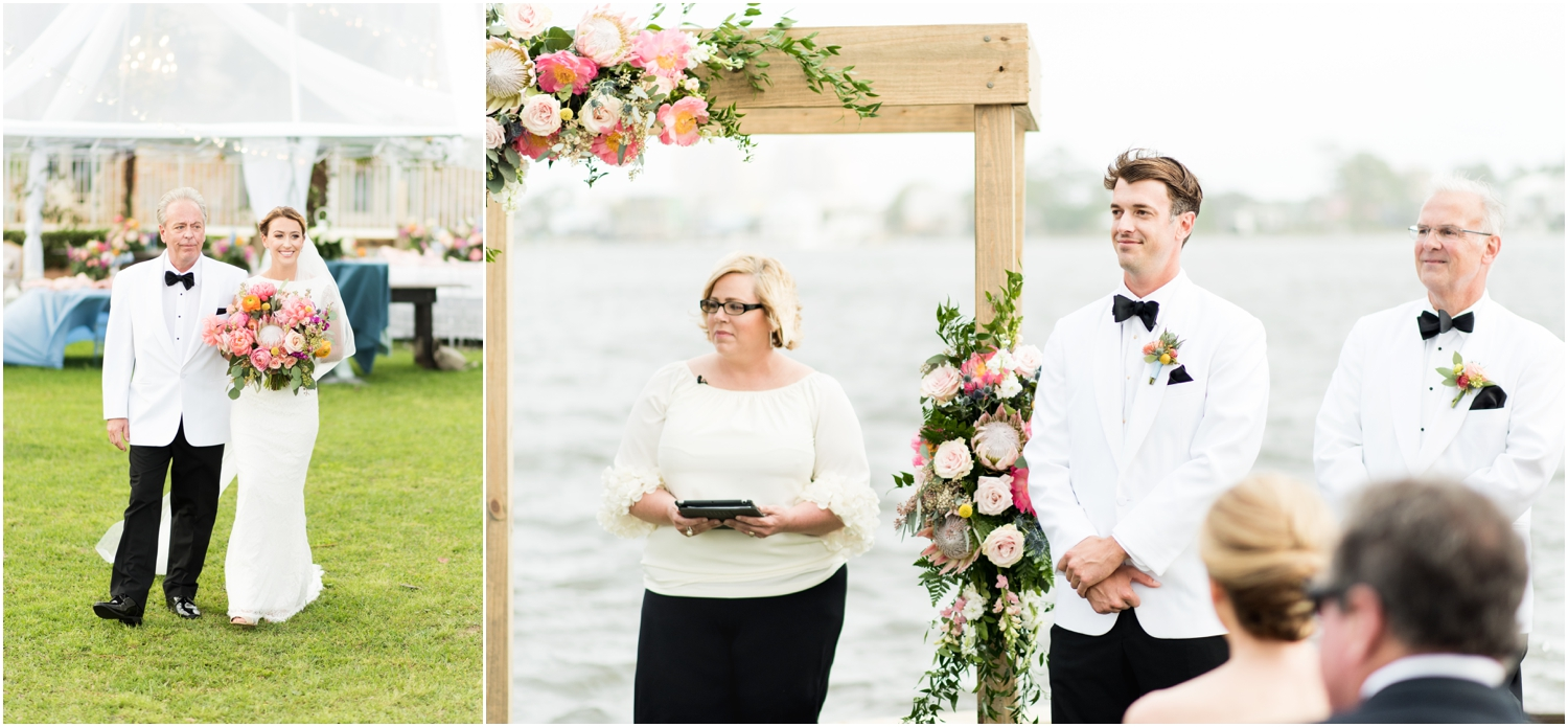 Gulf Shores Orange Beach Alabama Family Home on the Water Wedding Photographer ceremony first look