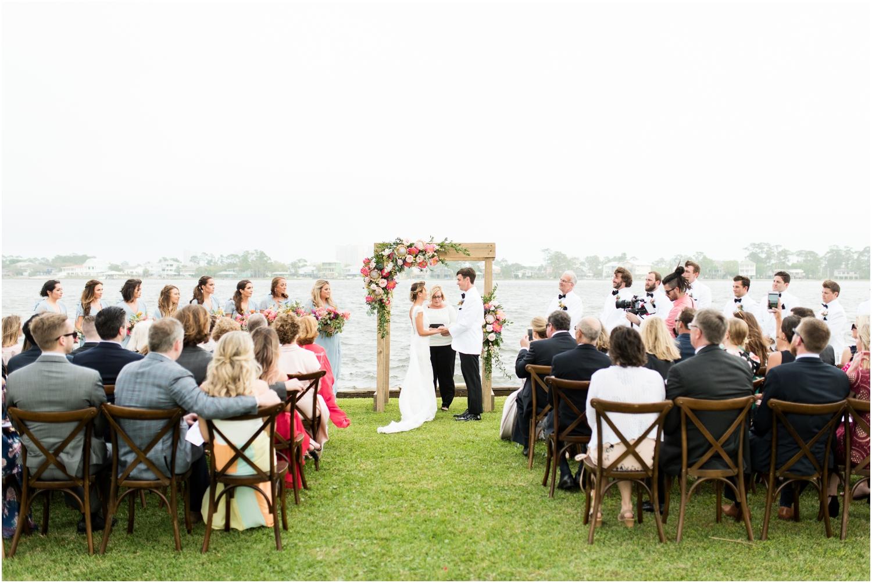 Gulf Shores Orange Beach Alabama Family Home on the Water Wedding Photographer ceremony