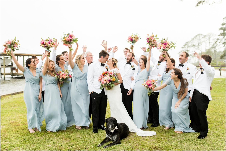 Gulf Shores Orange Beach Alabama Family Home on the Water Wedding Photographer bridal wedding party bridesmaids groomsmen