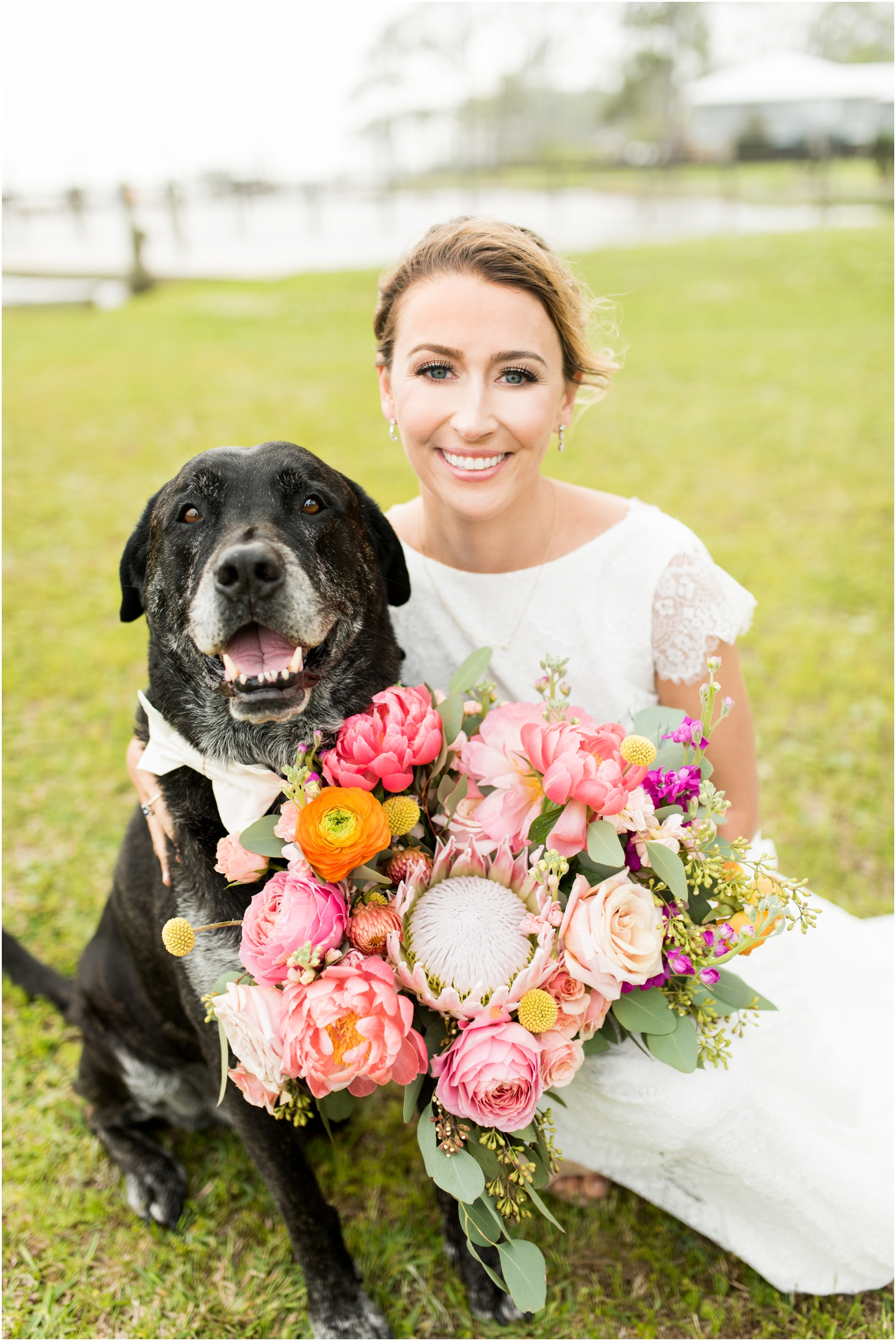 Gulf Shores Orange Beach Alabama Family Home on the Water Wedding Photographer dog fur baby ring bearer