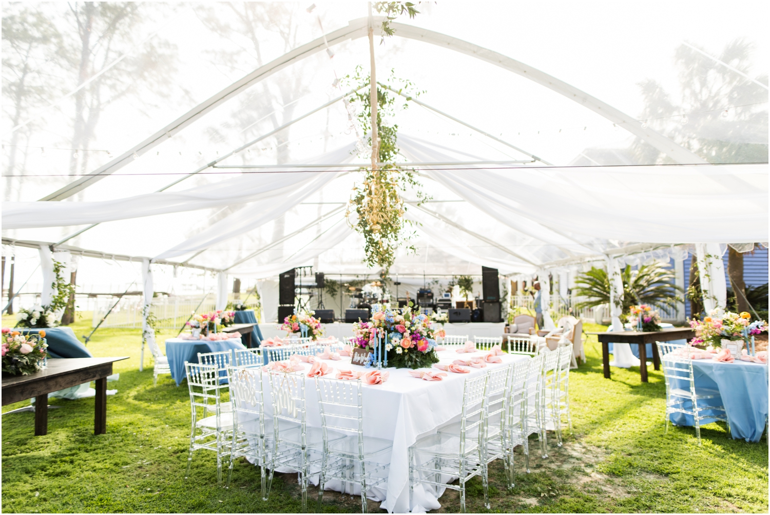 Gulf Shores Orange Beach Alabama Family Home on the Water Wedding Photographer reception details supposey
