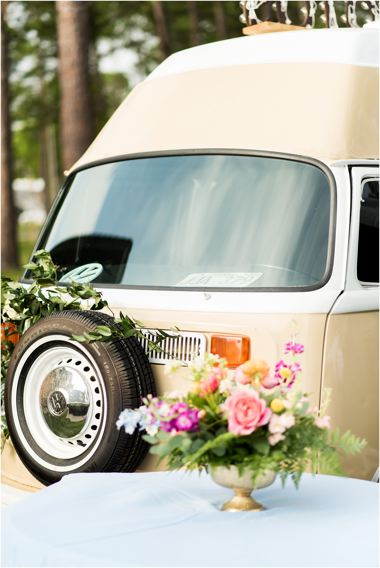 Gulf Shores Orange Beach Alabama Family Home on the Water Wedding Photographer reception details supposey posey bus photo booth