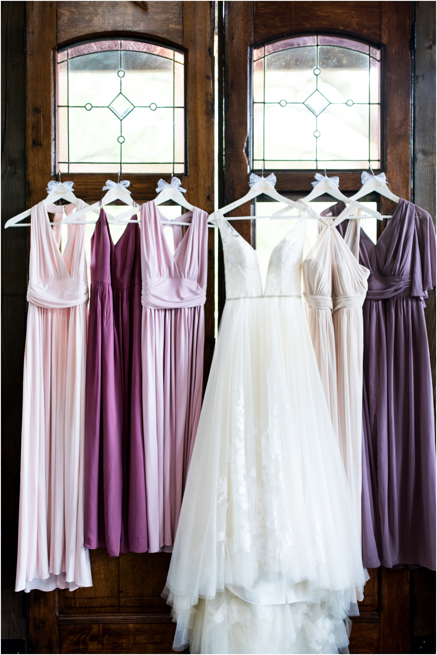 Live Oak Plantation Pensacola Florida Wedding Photographer purple bridesmaid dresses