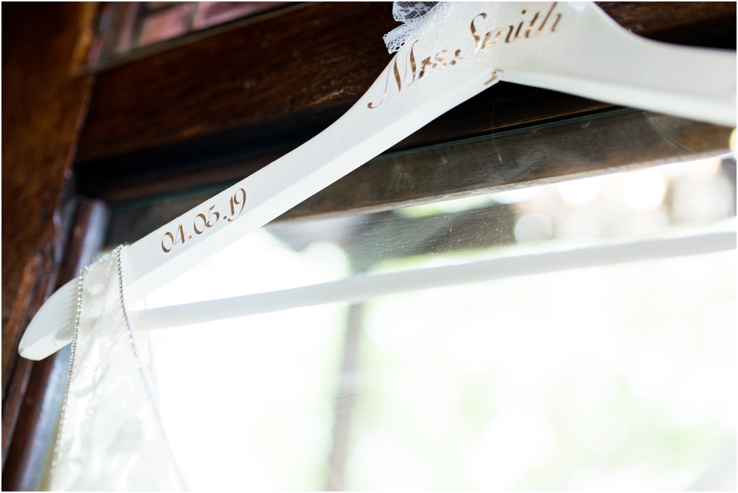 Live Oak Plantation Pensacola Florida Wedding Photographer monogrammed hanger