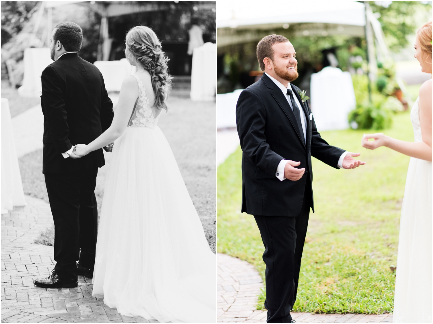 Live Oak Plantation Pensacola Florida Wedding Photographer first look bride groom
