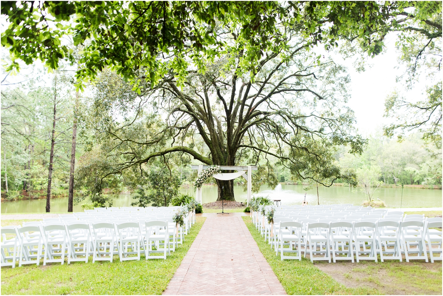 Live Oak Plantation Pensacola Florida Wedding Photographer ceremony details