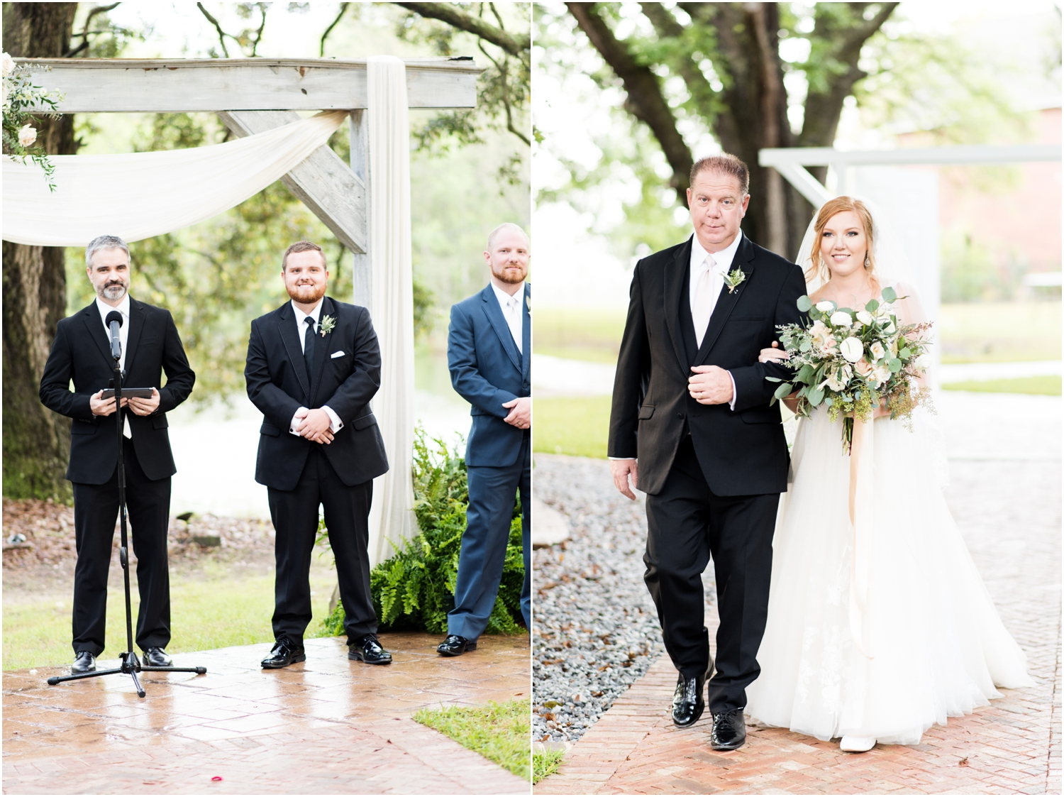 Live Oak Plantation Pensacola Florida Wedding Photographer ceremony