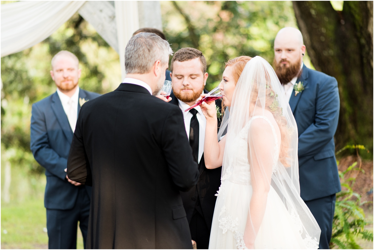 Live Oak Plantation Pensacola Florida Wedding Photographer ceremony communion