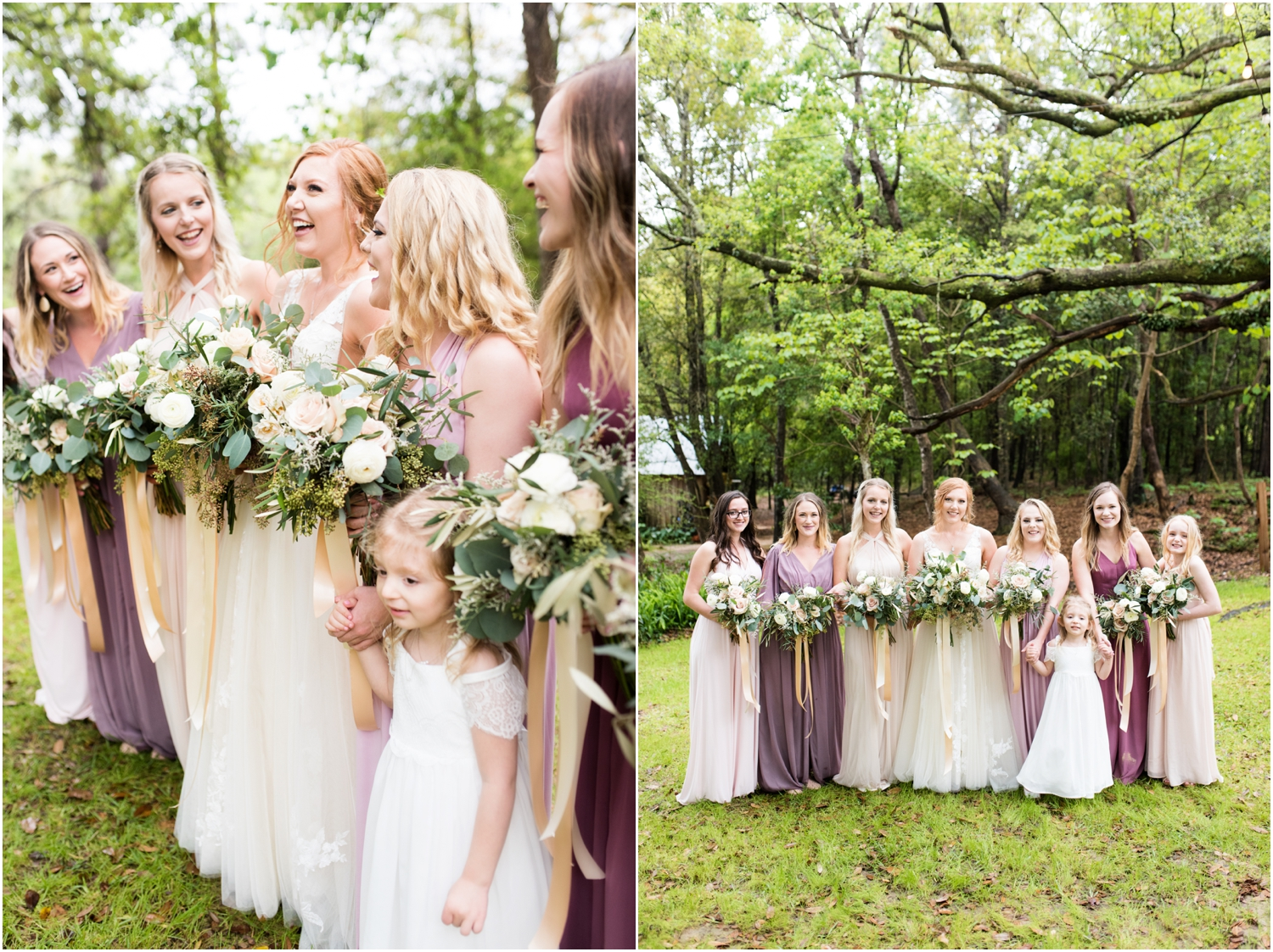 Live Oak Plantation Pensacola Florida Wedding Photographer wedding bridal party bridesmaids