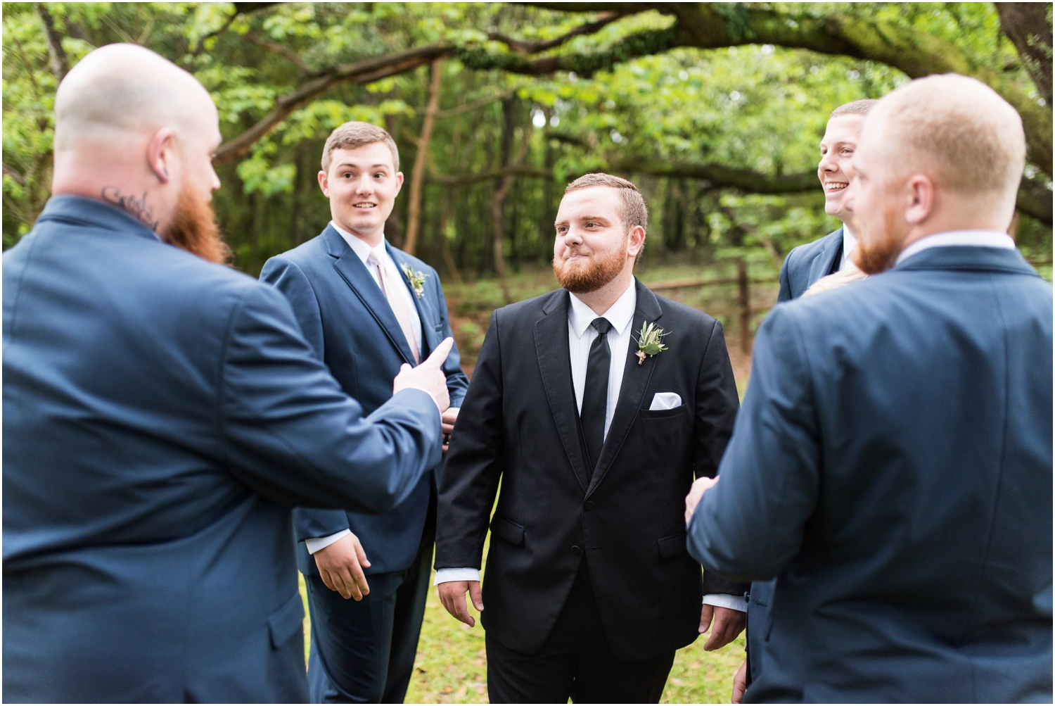 Live Oak Plantation Pensacola Florida Wedding Photographer wedding bridal party groomsmen