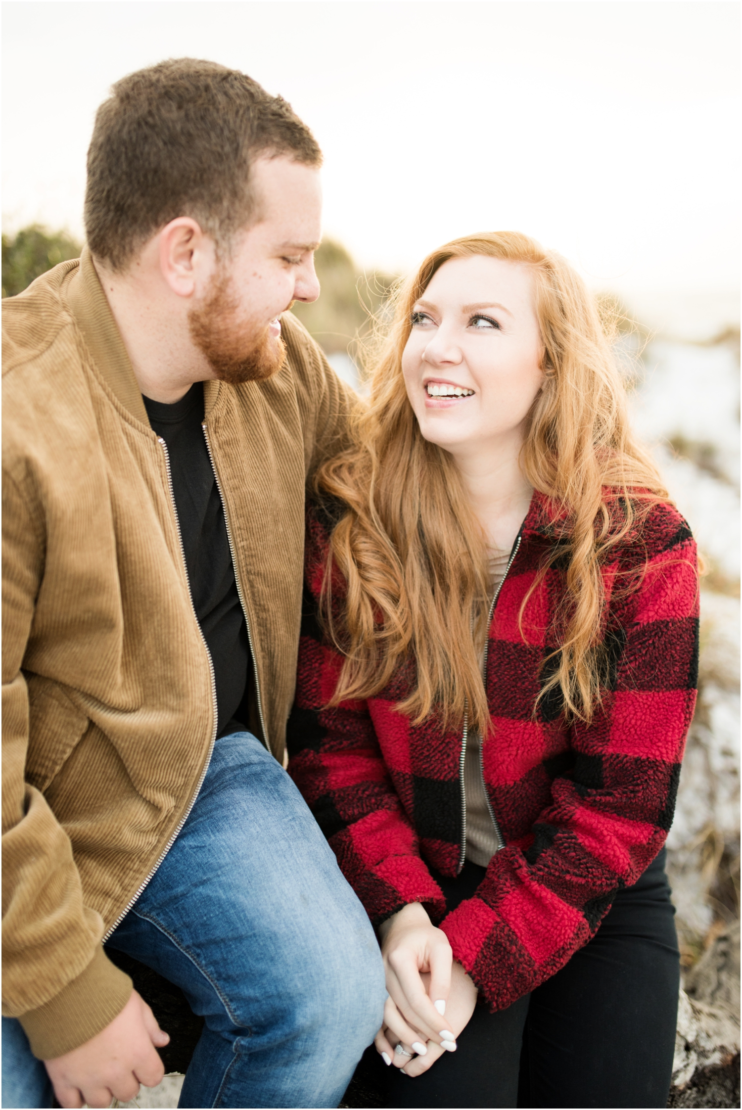 Pensacola Beach National Seashore Sunrise Winter Engagement Session